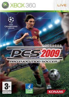 Immagine della copertina del gioco Pro Evolution Soccer 2009 per Xbox 360