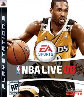 Immagine della copertina del gioco NBA Live 08 per Playstation 3