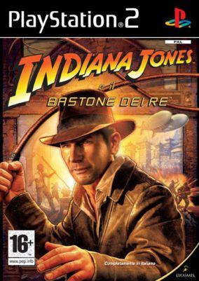 Immagine della copertina del gioco Indiana Jones e il Bastone dei Re per Playstation 2