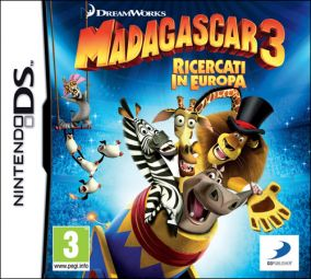 Copertina del gioco Madagascar 3: The Video Game per Nintendo DS