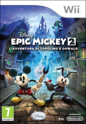 Copertina del gioco Epic Mickey 2: L'Avventura di Topolino e Oswald per Nintendo Wii