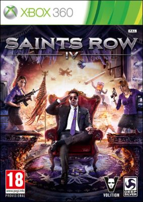Copertina del gioco Saints Row IV per Xbox 360