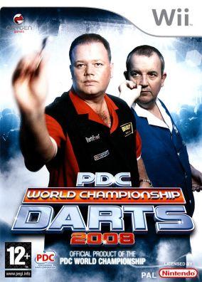 Copertina del gioco PDC World Championship Darts 2008 per Nintendo Wii