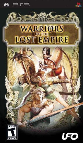 Copertina del gioco Warriors Of The Lost Empire per Playstation PSP
