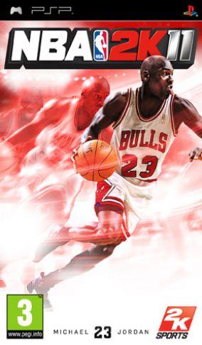 Immagine della copertina del gioco NBA 2K11 per Playstation PSP