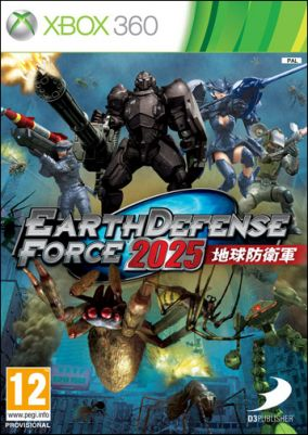 Copertina del gioco Earth Defense Force 2025 per Xbox 360