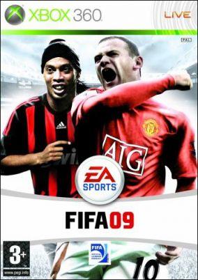 Immagine della copertina del gioco FIFA 09 per Xbox 360