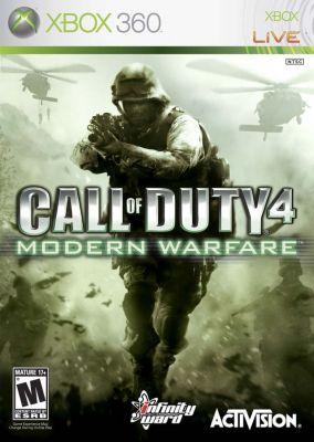 Copertina del gioco Call of Duty 4 Modern Warfare per Xbox 360