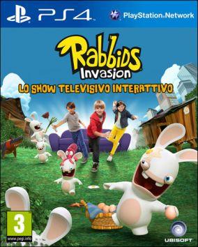 Copertina del gioco Rabbids Invasion: Lo show televisivo interattivo per Playstation 4