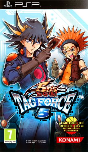 Copertina del gioco Yu-Gi-Oh! 5D's Tag Force 5 per Playstation PSP