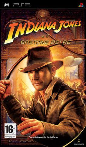 Immagine della copertina del gioco Indiana Jones e il Bastone dei Re per Playstation PSP