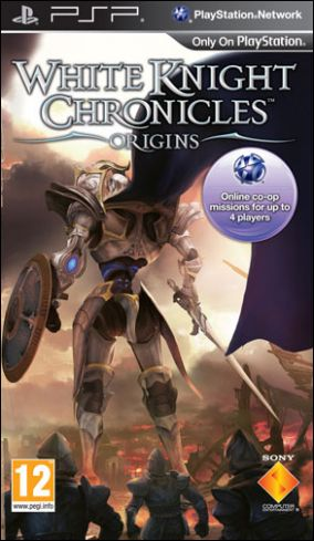 Copertina del gioco White Knight Chronicles: Origins per Playstation PSP