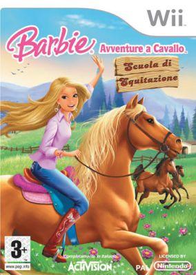 Copertina del gioco Barbie Avventure a Cavallo: Scuola di Equitazione per Nintendo Wii