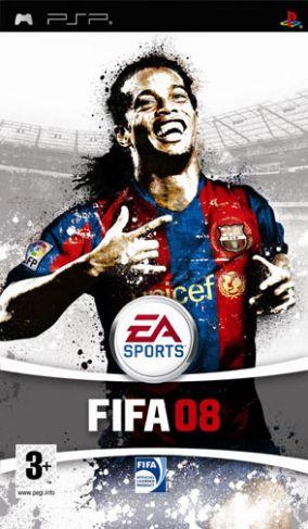 Immagine della copertina del gioco FIFA 08 per Playstation PSP