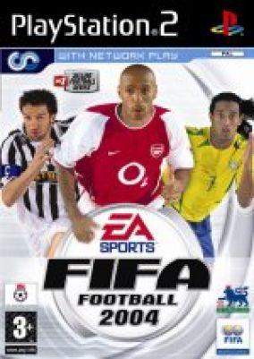 Immagine della copertina del gioco Fifa 2004 per Playstation 2
