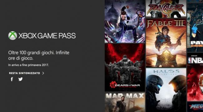 Xbox Game Pass disponibile da oggi per gli abbonati Gold