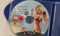 GTA V, l'immagine del disco di gioco