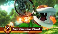 """La Pianta Piranha Falò """"impugna"""" la racchetta in Mario Tennis Aces"""