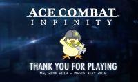 Dopo quattro anni di attività chiudono i server di Ace Combat Infinity