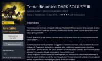 Dark Souls III - Tema dinamico gratuito per gli utenti PS Plus