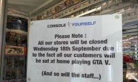 GTA 5, 18 settembre negozio chiuso per giocare !