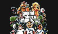 GTA V - Mod a tema Mario Kart