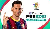 Konami annuncia eFootball PES 2021 SEASON UPDATE