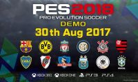 Disponibile la demo gratuita di PES 2018 su PS4 ed Xbox One