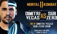 Mortal Kombat 11 - Rivelata una skin personalizzata per Sub-Zero del DJ internazionale Dimitri Vegas