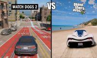 Watch Dogs 2 - Confronto estetico/fisico con GTA V