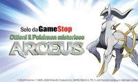 Il Pokémon leggendario Arceus arriva da GameStop