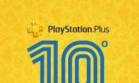 Sony Interactive Entertainment festeggia il decimo anniversario di PlayStation Plus con tre giochi inclusi nell'abbonamento e un tema gratuito
