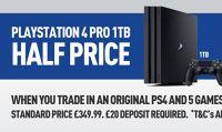PS4 Pro - Ecco le prime 'offerte' con il ritiro della 'vecchia' PS4