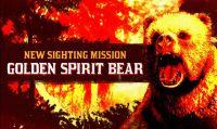 Red Dead Online - Avvistato Orso Spirito Dorato mentre massacra dei bracconieri nella Big Valley
