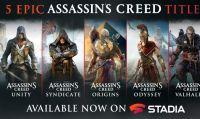 Ubisoft annuncia che nuovi capitoli di Assassin's Creed sono ora disponibili su Stadia