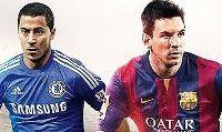 Eden Hazard e Lionel Messi sulla copertina inglese di FIFA 15