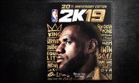 LeBron James sarà l'atleta di copertina della NBA 2K19 20th Anniversary Edition