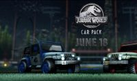 Rocket League celebra il nuovo film di Jurassic World con un DLC a tema