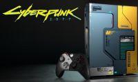 Cyberpunk 2077 si fonde con Xbox One X nella console a tema