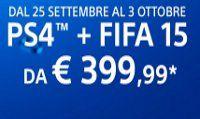 FIFA 15 in regalo con Playstation 4