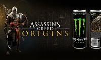 Assassin's Creed Origins ''si carica'' con Monster Energy Drink