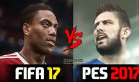 FIFA 17 vs PES 2017 - Il confronto grafico in un video
