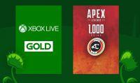 Ottima promozione su Amazon per 6 mesi di Live Gold e 1000 Monete Apex Legends