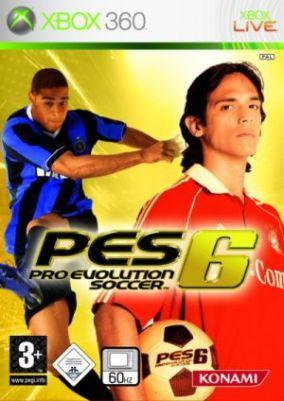 Copertina del gioco Pro Evolution Soccer 6 per Xbox 360