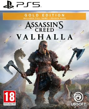 Copertina del gioco Assassin's Creed Valhalla per PlayStation 5