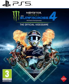 Copertina del gioco Monster Energy Supercross - The Official Videogame 4 per PlayStation 5