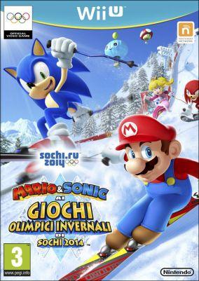 Copertina del gioco Mario & Sonic ai Giochi Olimpici invernali di Sochi 2014 per Nintendo Wii U