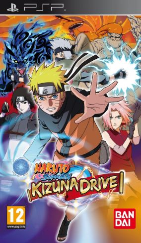 Copertina del gioco Naruto Shippuden Kizuna Drive per PlayStation PSP
