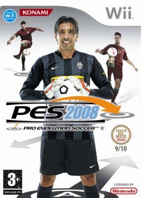 Immagine della copertina del gioco Pro Evolution Soccer 2008 per Nintendo Wii
