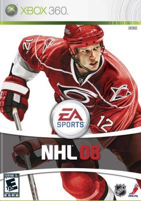 Copertina del gioco NHL 08 per Xbox 360
